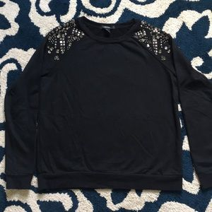 Like New Jewels Shoulder Black Sweatshirt Small.